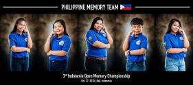 Philippine Memory Team - 3rd Indonesia Open Memory Championship