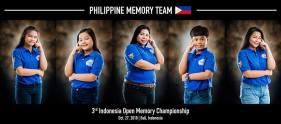 Philippine Memory Team - 3rd Indonesia Open Memory Championship