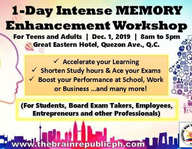 1-Day Intense Memory Enchancement Workshop