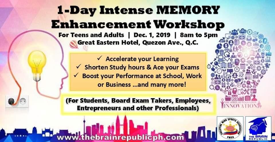 1-Day Intense Memory Enchancement Workshop